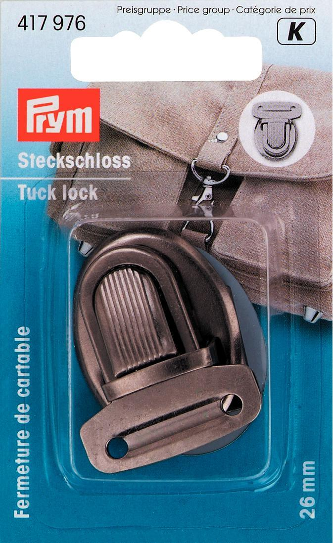 Prym 26mm antique silver tuck lock